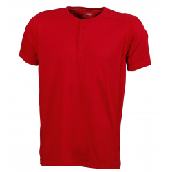 Henley Basic T-Shirt, Herr