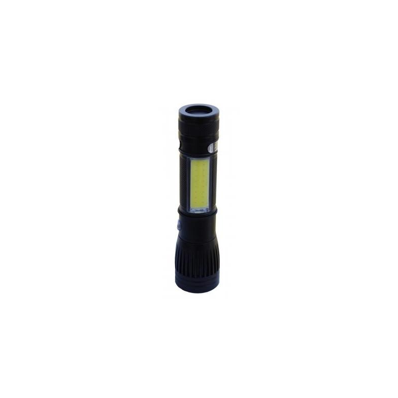 CoB-Zoom ficklampa uppladdningsbar