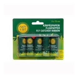 Flugpapper rullar, 5-pack